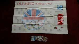 Olympic Challenge. Empty Wallchart & Cards