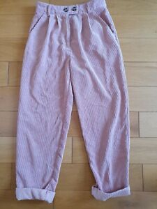 Topshop Pink Cord Trousers 8
