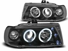 Pair of Headlights for Seat IBIZA CORDOBA POLO VARIANT Halo Rims Black CA LPSE04