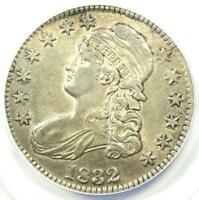 1832 Capped Bust Half Dollar 50C - Certified ANACS AU50 - Rare Coin!