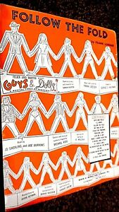 FOLLOW THE FOLD: THEME FROM THE MUSICAL 'GUYS & DOLLS' (SHEET MUSIC)