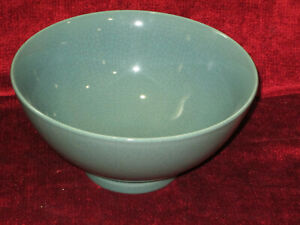 "BIA Cordon bleu Ancien blue crackle  round serving bowl 9"" x 4 1/2"""