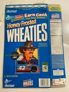 Honey Frosted Wheaties Cereal Box 14.75 oz. Richard Petty Nascar 200th Win