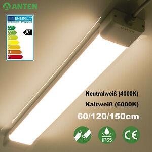 LED Feuchtraumleuchte 60/120/150 cm Röhre Keller Werkstatt Wannenleuchte IP65