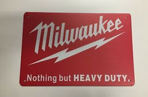 Milwaukee Tools Style1 Metal Tin Signs - Impact Fuel Combo Hammer Drill Driver