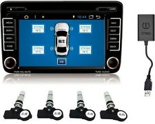 For All Android Car Dvd Tpms Tire Pressure Monitoring System 4 Interior Sensors
