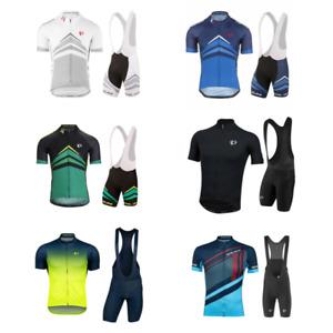 PEARL iZUMi Men Short Cycling Jersey MTB Gel Bib Pants Bicycle Racing Shirt Suit