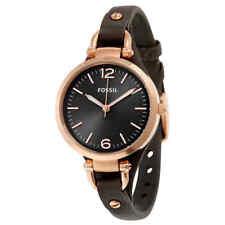 Fossil Georgia Grey Dial Grey Leather Ladies Watch ES3077