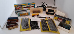 """Lot of Various Vintage """"N"""" Gauge Locomotives, Cars, Track & Transformer- 60s/70s"""