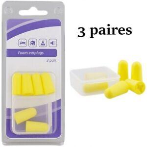 Bouchons d'oreille en mousse 3 paires + boite de rangement