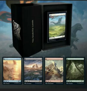 MTG Secret Lair - The Godzilla Lands Magic the Gathering - SEALED -  IN HAND