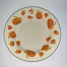 Longaberger Basket Pottery Halloween Pumpkin Large Treat Bowl Serving 12�