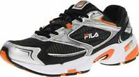 Fila Men's DLS Swerve Athletic Running Shoes Size 9 Black/Silver