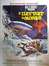 Affiche cinéma L'ILE SUR LE TOIT DU MONDE Disney - 120 x 160 cm