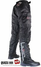 Motorcycle WATERPROOF & INSULATED Over Trousers Thermal Pants Lined Reflective