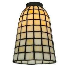 Meyda Lighting 5'W Geometric Beige Replacement Shade, Beige - 67039