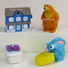 LOOSE SET 4 Subway 1999 BEAR IN THE BIG BLUE HOUSE Pip Pop TUTTER Viewer HENSON