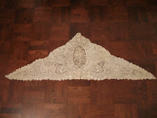 "Antique Belgian Lace Triangle/Veil - Point de Gaze/Brussels Duchesse, 68"" by 20"""