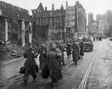WW2 1945 Koln Cologne Germany German Soldiers Surrender WWII Photo FL102