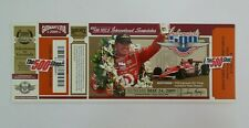 2009 Indianapolis 500 Unused Race Complimentary Employee Ticket Scott Dixon