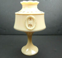 Westmoreland B. Parry 1979 Signed Almond Bouquet Custard Glass Fairy Lamp
