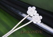 Handmade 925 Sterling Silver filigree HAIR JEWELRY PIN PICK new GUAVA FLOWER