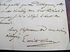 EVARISTE BAVOUX Autographe Signé 1860 DEPUTE SEINE-ET-MARNE ORATEUR 2ND EMPIRE