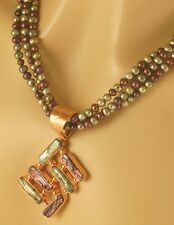 JAY KING Purple & Green Biwa Pearl Necklace Pendant, Copper MINE FINDS