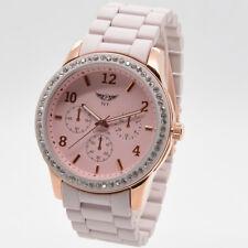 Damen Mode Luxus Gold NY London Designer Bling Armbanduhr Strass