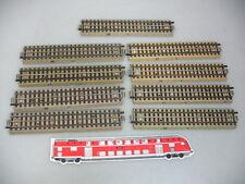 AD337-1# 9x Märklin H0/00 M-Gleis/Gleisstück/Schienen f. 3600/800, sehr gut