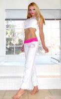 NWT Hello Kitty Lace Waistband soft cotton Pajama pants S,M,L,XL, White