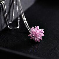 Chain Silver Women Pendant Alloy Flower Necklace Snowflake Crystal Clavicle
