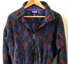 Vintage 1990's Patagonia Women's Aztec Tribal 1/2-Zip Long Fleece Jacket 14