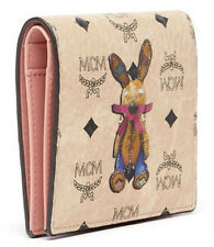 New Authentic MCM Small Wallet Card Wallet Rabbit MYA7AXL15IG EMS Free