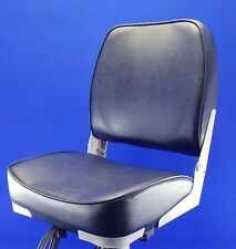 Quality Folding Navy Blue Boat Helm Seat - Speed Boat Fishing - New