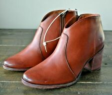 NWT Women's Frye Nora Zip Short Boots Nutmeg Soft Full Grain Booties Shoes 5-10