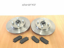 Toyota Starlet GT Turbo Glanza Rear Brake Discs & Pads EP82 EP91 (Non-ABS)
