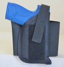 """Concealment Elastic Ankle Holster for Springfield XDs 45 with 3.3"""" Barrel Black"""