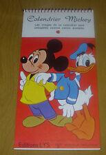 WALT DISNEY  MICKEY MOUSE  DONALD DUCK  POST CARD CALENDAR  1968  BELGIUM FRANCE