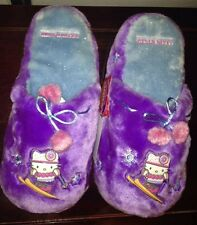 Hello Kitty Purple Slippers girls Sz 9-10 Nwt Sanrio Claire'S