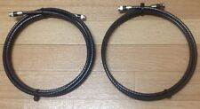 6 Ft,Feet,Black Rg6 Digital HD Coax/Coaxial Satellite TV Cable (lot Of 2)