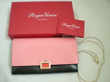 ROGER VIVIER BI COLOR POCHETTE CLUTCH CHAIN SHOULDER LEATHER BAG PRISMICK