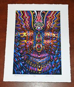 Alex Grey Psychadelic Art Print Ayahuasca Visitation S/# 200 Tool Poster Artist