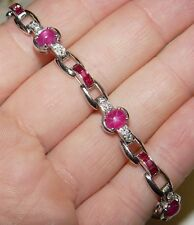 "Tiffany & Co. STAR Ruby and Diamond PLATINUM bracelet 7"" long 20.6g."