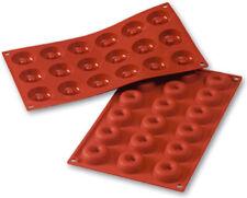"""Silikomart Silicone Non-Stick Savarin Mold .61 Oz, 1.61"""" Diam. x .47"""" Deep"""