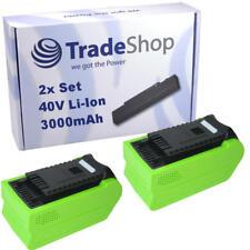 BATTERIA 2x 40v 3000mah li-Ion per Greenworks Tools G-Max Motosega 20117 20077
