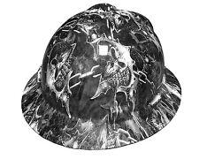 Hydrographic Warrior Skull MSA V-Guard Full Brim Hard Hat