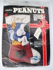Malina PEANUTS My List FELT Christmas Stocking KIT 8450/001 SEALED SNOOPY 1979