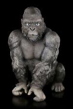 Gorilla Figur groß - Big Kong - Deko niedlicher Affe Silberrücken Statue
