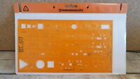 Vintage Standardgraph 6107 IEC_617 plastic stencil